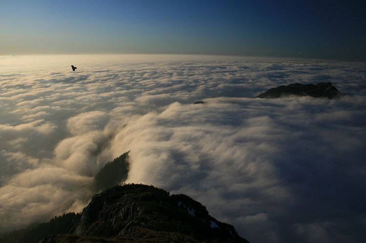 20091126 – Thursday - Cloud Fall on Mt. Wendelstein