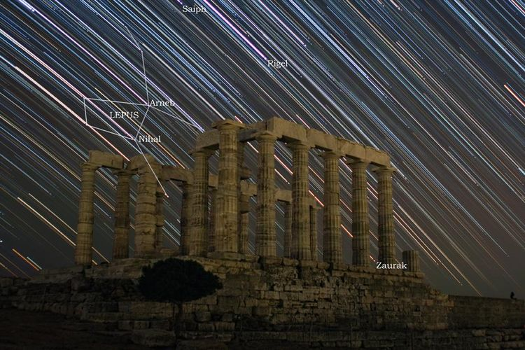 20100112 – Tuesday - Star Trails above Poseidon Temple
