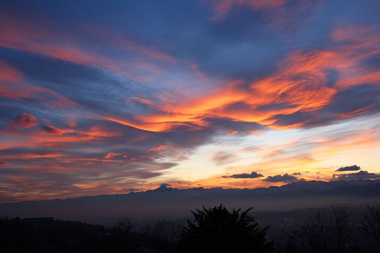 20100320 – Saturday - Italian Alps Sunset