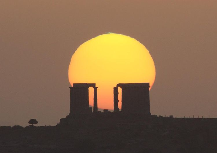 Sounion green flash