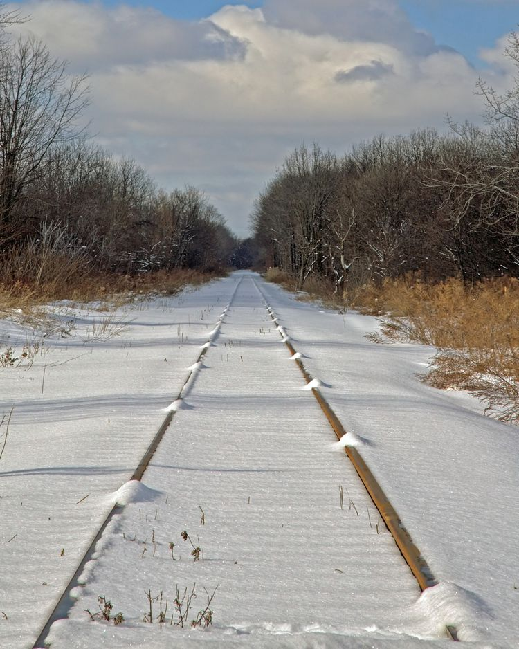 RailroadTracksand Snow