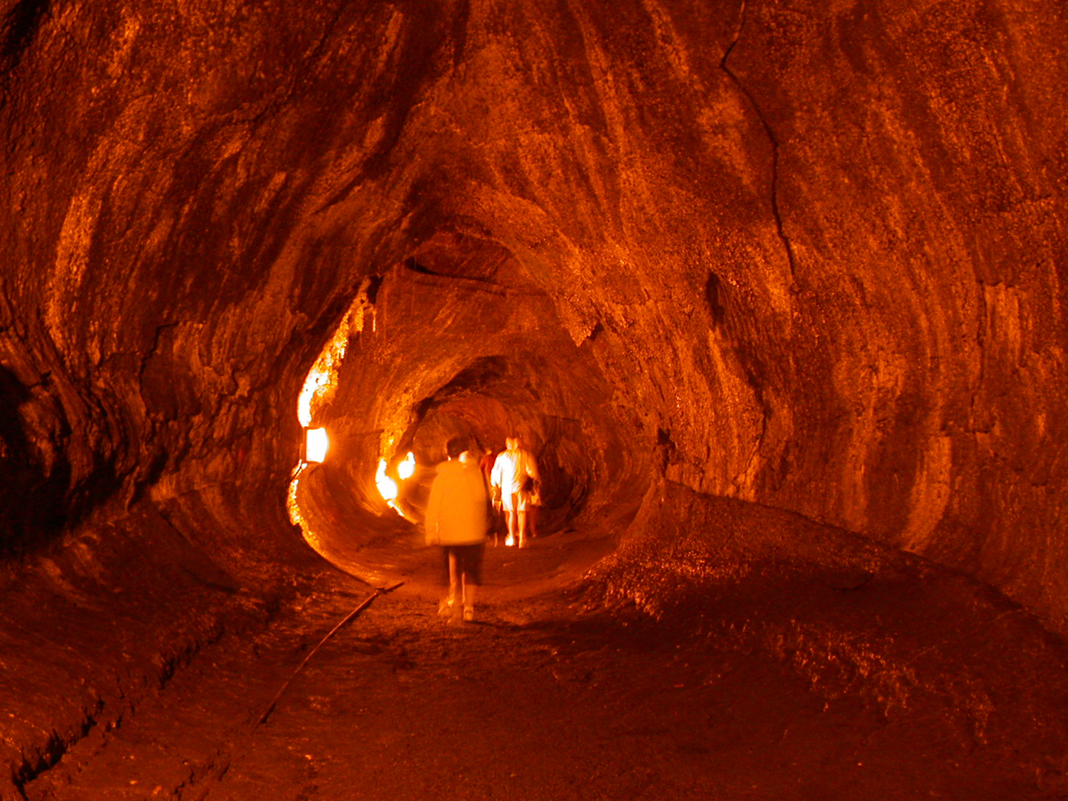 Group of Lava Cave Scene By