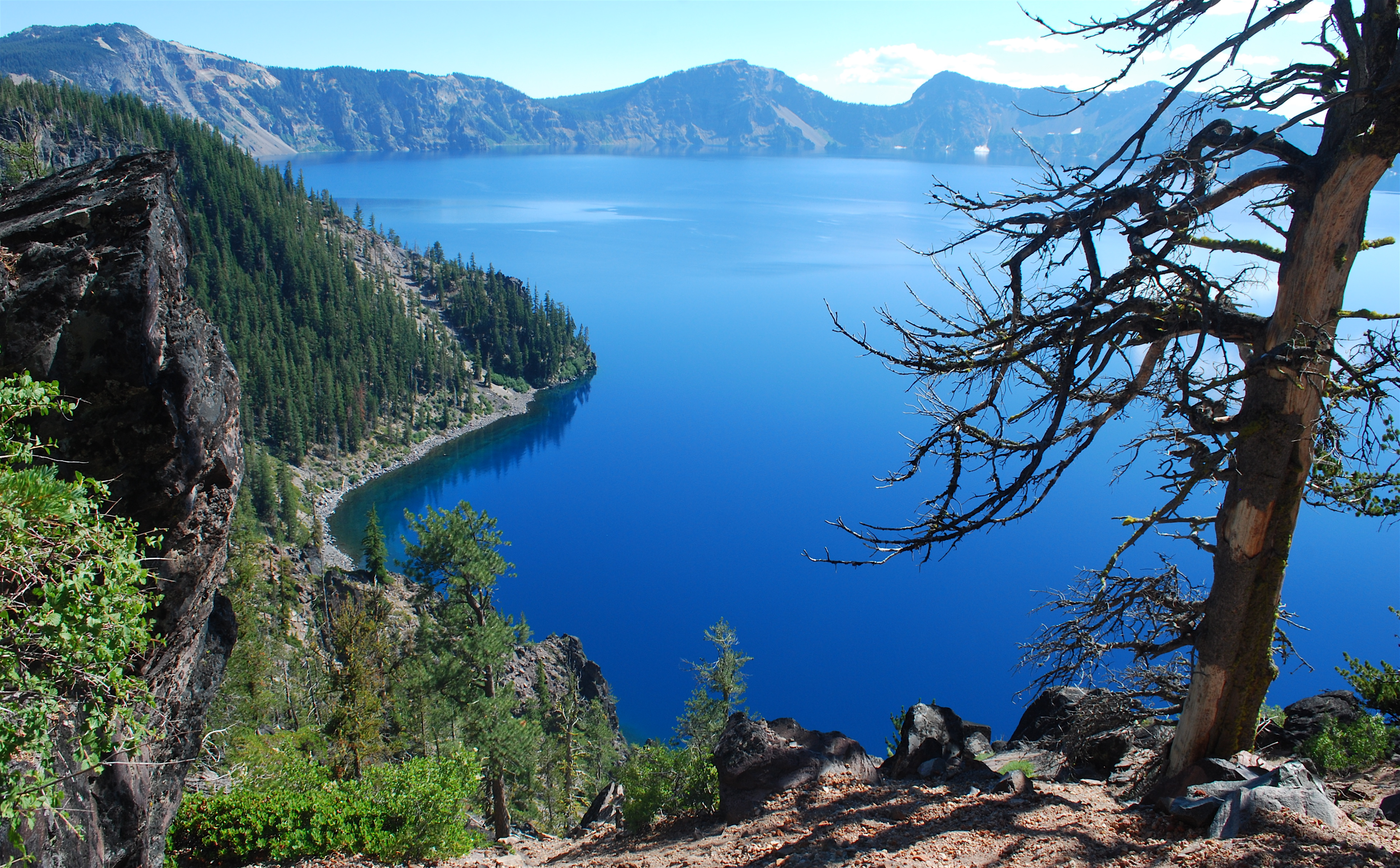 Blue Color Of Crater Lake