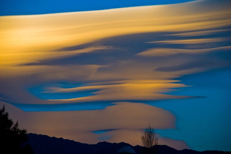 Lenticular clouds in Argentina