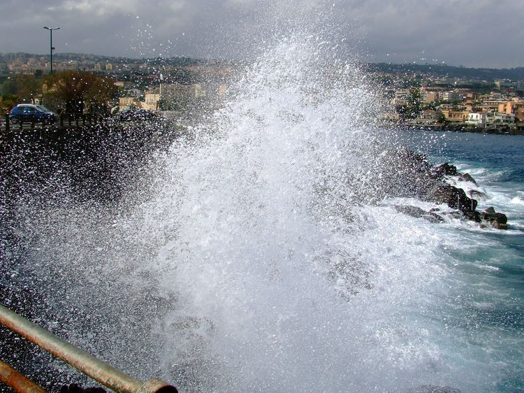 Breaking Waves at Catania, Sicily