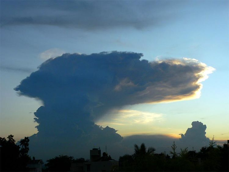 Anvil Cloud Over Bangalore, India
