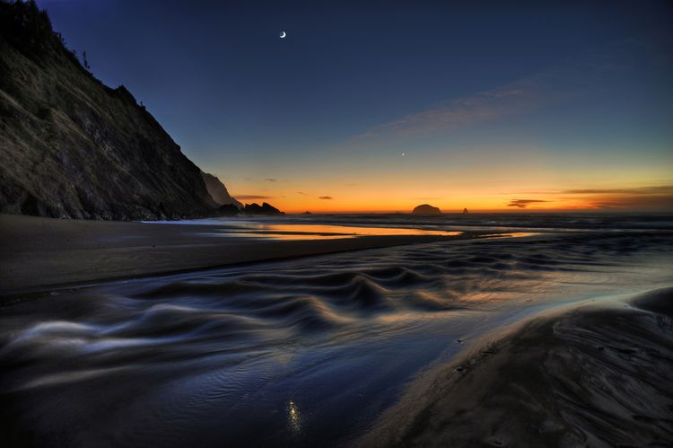 Tides Near Port Orford, Oregon