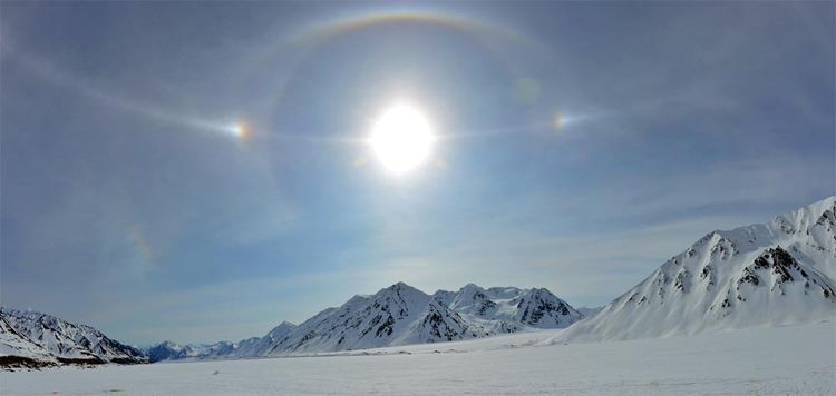 Halo Display Over Black Rapids Glacier, Alaska 2