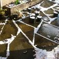 Snowmelt Pattern on Patio