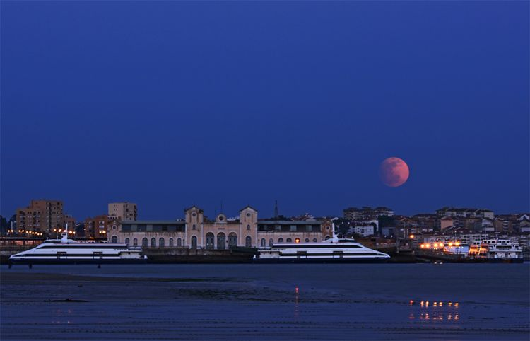 Pink Moon Over Portugal