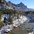 Snow in Zion Canyon