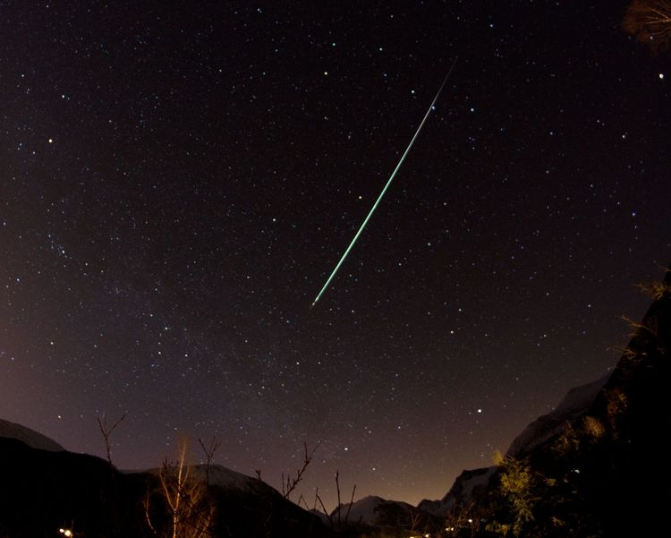 Fireball Over the Sunnmore Alps