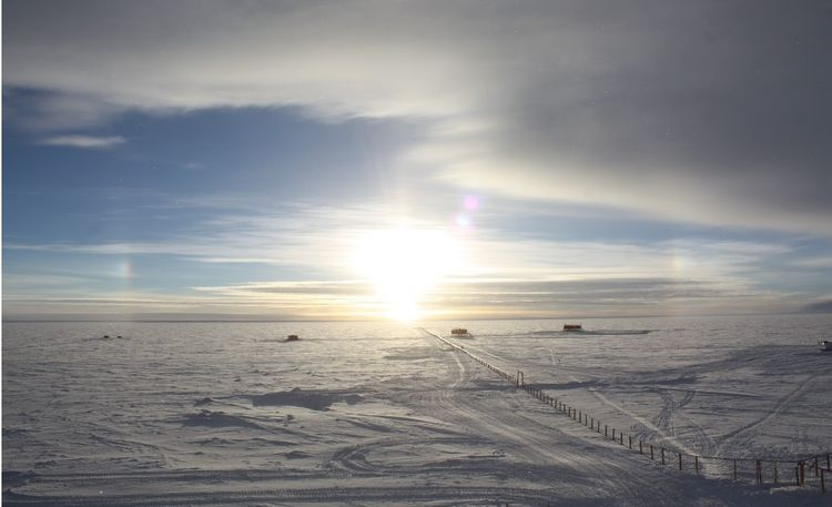 Sun Dogs above Dome Circe, Antarctica