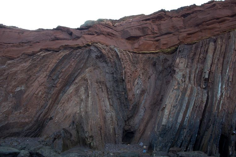 Angular Unconformity at Telheiro Beach, Portugal