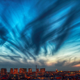 Cirrus Curtain Over Paris