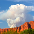 Pyrocumulus Clouds Over Fire in Southwestern Utah