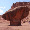 Balanced Boulder in Glen Canyon