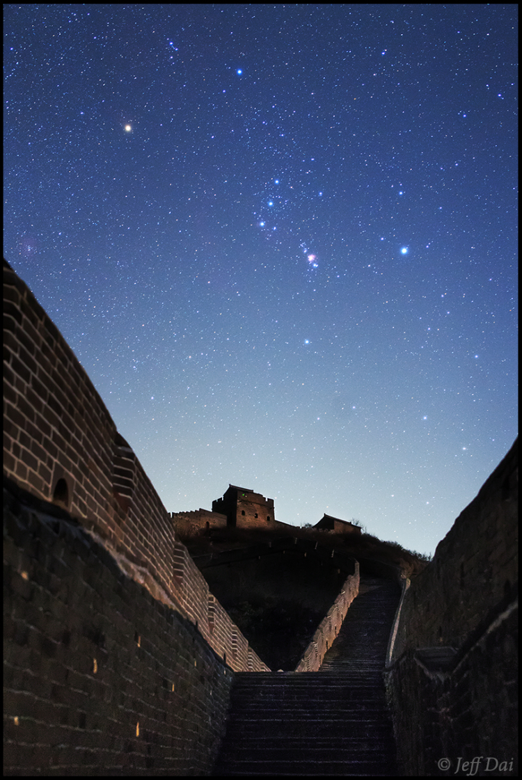Three Belt stars of Orion in spring festival of China (4)