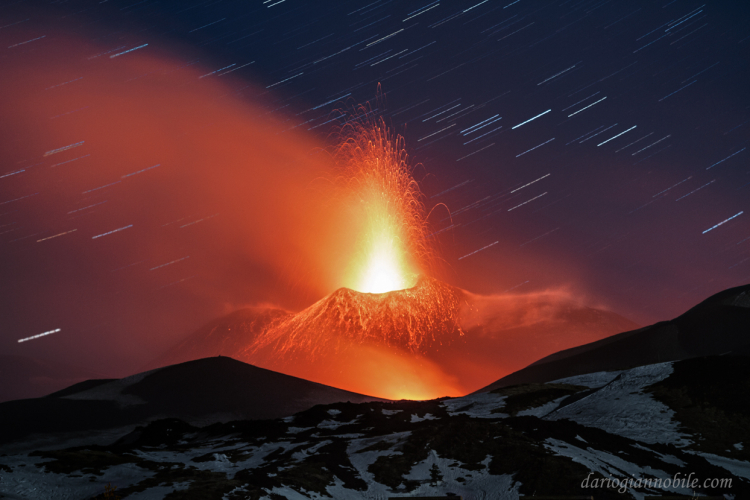 Trails Of Lights And Fires On Mount Etna - Unesco World Heritage Site DG (5)