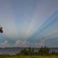 Anticrepuscular Rays Over Melbourne, Florida