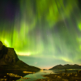 Aurora from Strongest Solar X Flare in a Decade