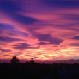 Amazing Twilight Colors Over Northern Italy