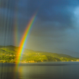 Reflection Rainbow Over Samos Island, Greece