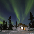 Aurora Over the Chena Hot Springs, Alaska