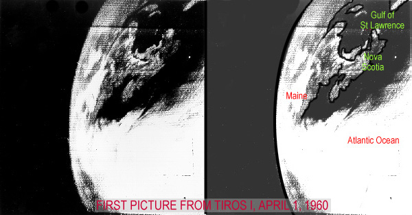 April 1, 1960 1st Picture from TIROS (1)