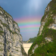 Rainbows Above Vajont Dam, Italy
