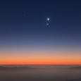 Conjunction of Three Planets