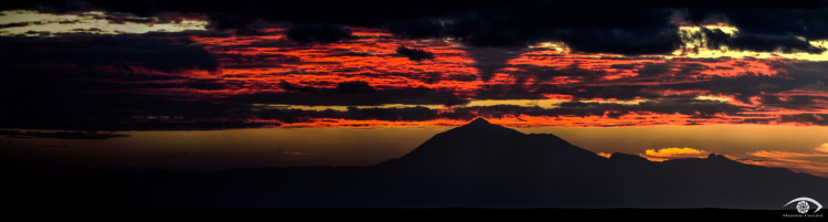 Sunrise Teide shadow on the clouds in Tenerife (2)