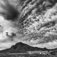 Roque del Conde and Storm Clouds