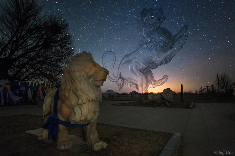 Constellation Leo and the chinese guardian lions (1)