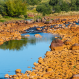 Yellow Rocks in the Agrio River