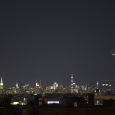 Crescent Moon, Earthshine and Mercury Over New York City