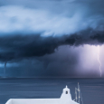 Two Waterspouts, Two Lightning Bolts