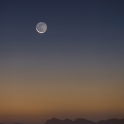 The Crescent Moon, Venus and Zaniah over the Alps
