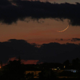 The Young Moon Observed from Sicily