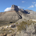 El Capitan and Guadalupe Peaks in Guadalupe Mountains National Park