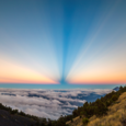 Anticrepuscular Rays Viewed from Volcan Acatenango