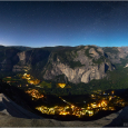 Moonlit Panorama of Yosemite Valley