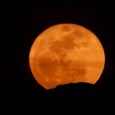 Pumpkin Moon Over the Hindu Kush
