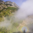 Glory and Brocken Spectre Viewed from Samos Island, Greece