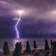 Cloud-to-Ground Lightning Over the Ionian Sea