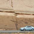 Fault in Road Cut Near Kingman, Arizona