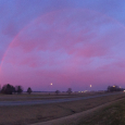 Pink Rainbow Over Marysville, Ohio