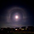 Unusual Lunar Halo