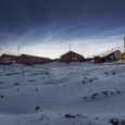 Noctilucent Clouds Above Base Marambio, Antarctica