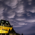 Mammatus Clouds Over the Chateau Frontenac